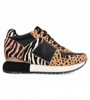 Buy Gioseppo Salsk multicolor sneakers -Internal wedge height + platform: 5,8 cm