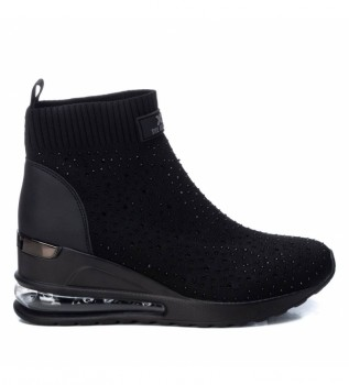 Buy Xti Wedge ankle boots 042948 black -Height 7 cm