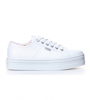 Acheter Victoria Chaussures compensées en toile blanche -Hauteur de plateforme: 4,5 cm-