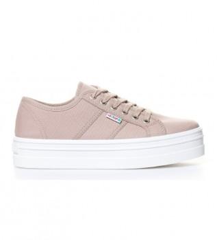 Acheter Victoria Chaussures compensées en toile taupe -Hauteur de plateforme: 4,5 cm-