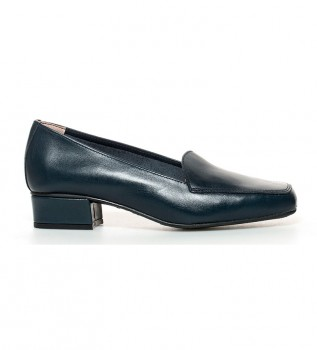 0ca992207 Comprar D´Chicas Zapatos de piel Hebe marino-Altura tacón  3cm-
