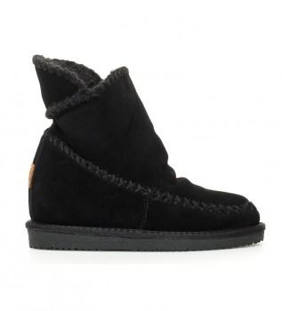 Buy Gioseppo Josca black leather boots -Internal wedge height: 7cm-