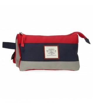 Acheter Pepe Jeans Boîte à trois compartiments Pepe Jeans Dany Rouge -22x12x5cm