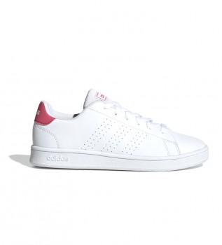 Comprar adidas Vantagem K Sapatos brancos, cor-de-rosa