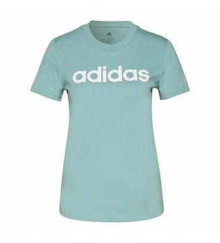 Comprare adidas T-shirt slim con logo Essentials Loungewear turchese