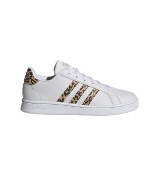 Comprar adidas Grand Court Kids Sneakers branco, impressão leopardo