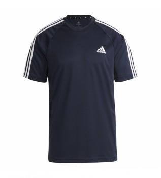 Acheter adidas T-shirt Sereno 3 Stripes marine