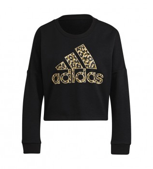 Buy adidas Sweatshirt Woman Leopard Graphic black