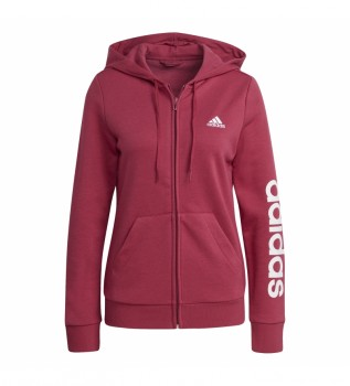 Buy adidas Essentials Logo Hooded Jacket pink