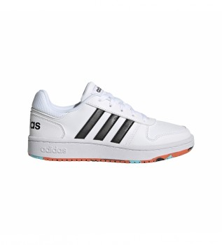 Buy adidas Leather sneakers Hoops 2.0 white