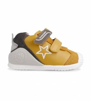 Comprare Biomecanics Sneakers in pelle 211145 senape