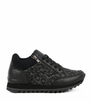 Adela 02 negro Altura Zapatillas cuña Chika10 3cm interior 5WUR4ntEx