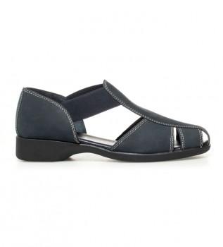 0a19b1938 D´Chicas Zapatos de piel Sina II nobuck marino -Altura tacón  2