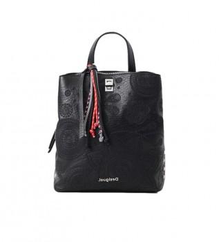 Comprar Desigual Dejavu Sumy Mini mochila preta -24,4x8,6x29,3cm