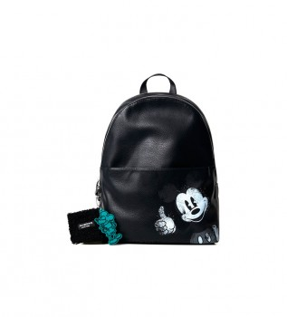 Buy Desigual Mickey Mombasa 2Zippers Backpack navy blue - 30x14.5x38.3cm