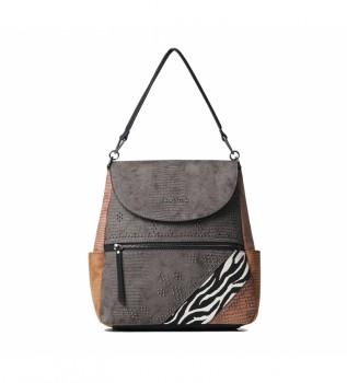 Acheter Desigual Sac à dos Mona Positano brun -28x12.5x28.40cm