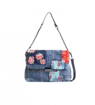 Buy Desigual Beta Patch Vera jeans blue bag - 33.5x26x6cm