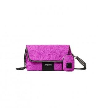 Buy Desigual Crush Venice fuchsia handbag -24x12.5x36cm