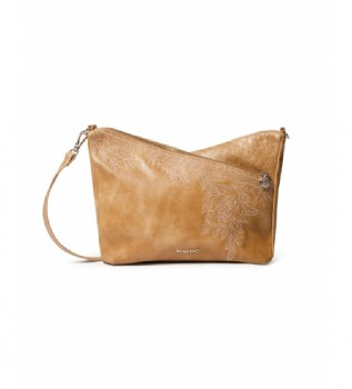 Comprare Desigual Testi Harry Mini borsa a tracolla cammello -25x20x10cm-