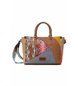 Comprar Desigual Bolso Mano Mosaico multicolor -33x13,2x23,3cm-