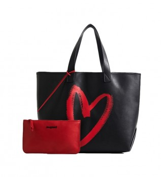 Buy Desigual Amasenti Nambia Reversible black, red Amasenti bag -35,5x19x34,5cm