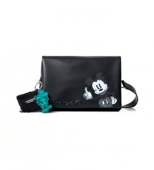Comprar Desigual Mickey Dortmund Flap bag preto - 27,3x3x17,3cm
