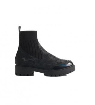 Comprar Desigual Botines Biker Sock negro