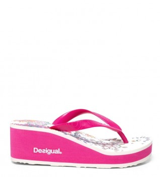 95670dcb103 Desigual Flip flop Lola Galactic rosa -Altura cuña  6cm-
