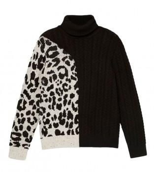 Buy Desigual Solange animal print sweater black