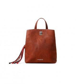 Buy Desigual Deja Vu Sumy mini camel Deja Vu backpack - 24.4x8.6x29.3cm