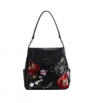 Buy Desigual Niagara Positano handbag black, floral -12,5x28,4cm