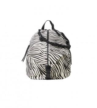 Buy Desigual Zebra leather backpack Viana animal print