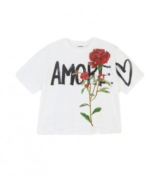 Buy Desigual T-shirt Celidonia white