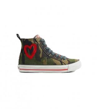 Buy Desigual Beta Military camouflage sneakers
