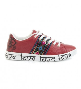 Buy Desigual Red Cosmic Exotic Indian shoes
