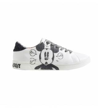 Buy Desigual Sneakers Cosmic Mickey Glitter white
