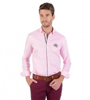 f804870e54491a Giorgio Di Mare Camicia a gabbia rosa