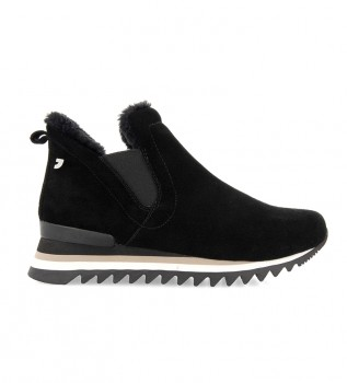 Comprar Gioseppo Eckero botas de couro preto - altura da cunha: 3,5 cm