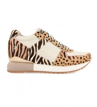 Comprar Gioseppo Sapatos de couro Beige Bikaner - Altura da cunha interna + sola: 5.8cm