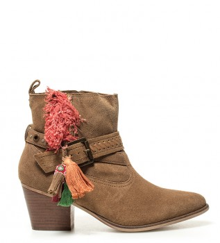 2ba393832 Brown leather boots Didian - Heel height  6.5cm-