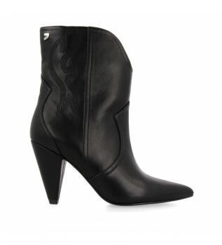 Buy Gioseppo Black Kurgan leather ankle boots -Heel height: 8,5cm