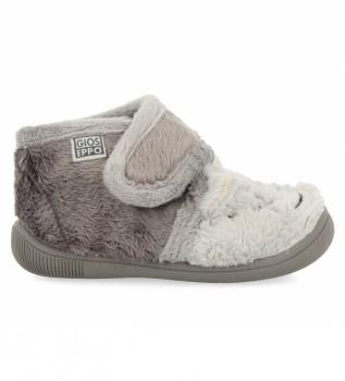 Buy Gioseppo Salejard grey slippers
