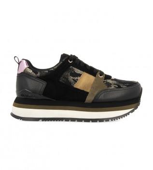 Buy Gioseppo Glazov leather shoes black, gold, green -Platform height: 5cm