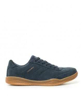 Sneakers in pelle blu yukiko