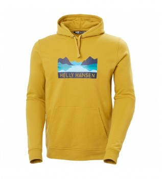 Acheter Helly Hansen Sweat-shirt Nord Graphic Pull Over jaune