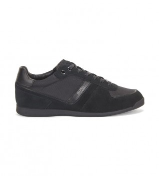 Buy Hugo Boss Glaze Lowp black leather sneakers