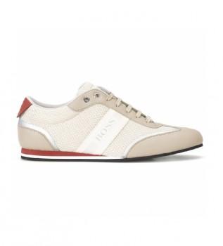 Buy Hugo Boss Low Top Sneakers in mesh and beige rubber fabric