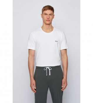 Buy Hugo Boss Loungwear T-shirt in off-white Stretch Cotton