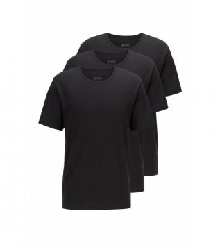 Buy Hugo Boss Pack of 3 T-shirts 50325385 black