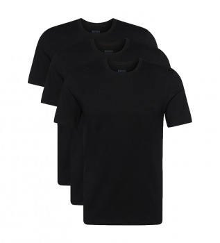 Comprar Hugo Boss Embalagem de 3 camisetas de manga curta RN 3P CO 10145963 01 preto